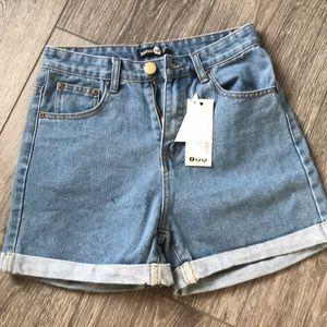 BooHoo High waisted Demin Shorts